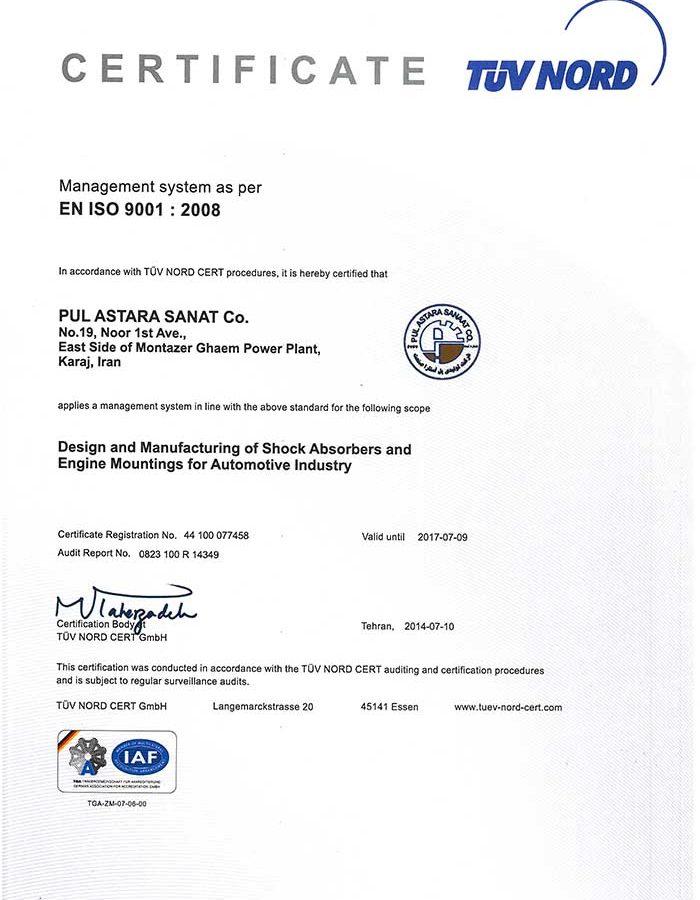 EN ISO 9001 -- 2008