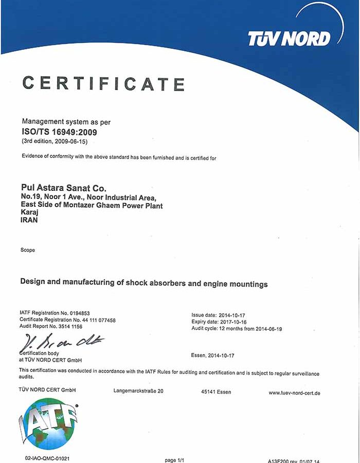 ISO TS 16949 -- 2009